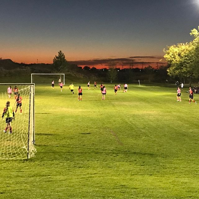 Such a beautiful night at the soccer field!