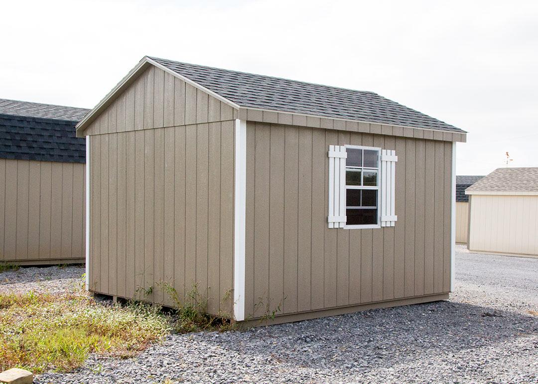 10x12 a frame storage shed
