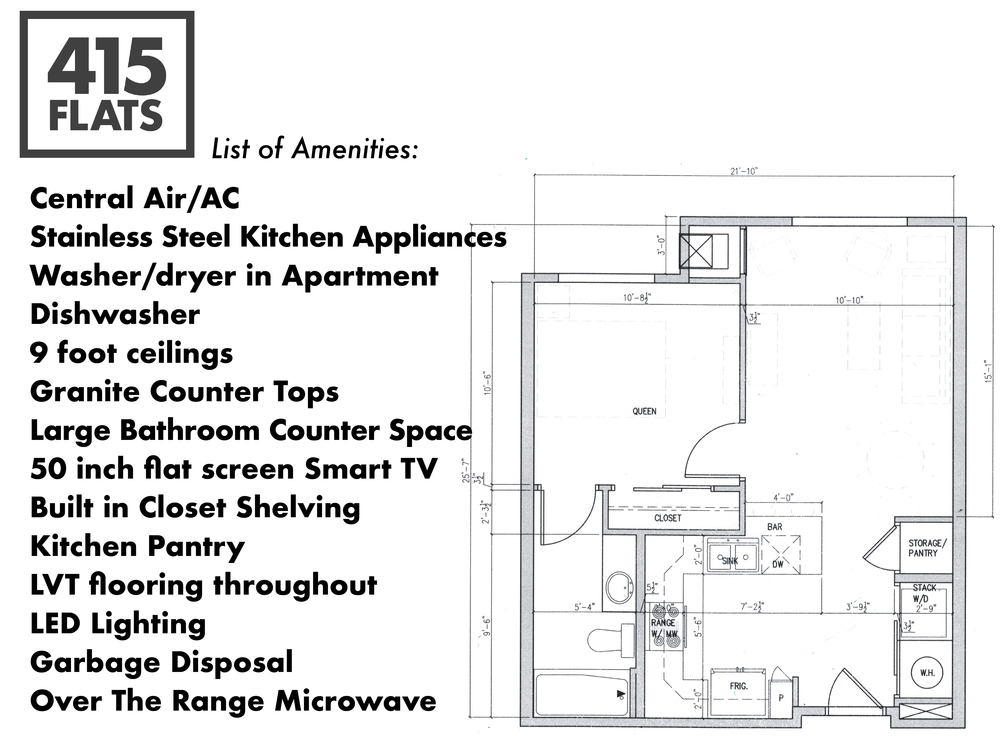 List of Amenities: