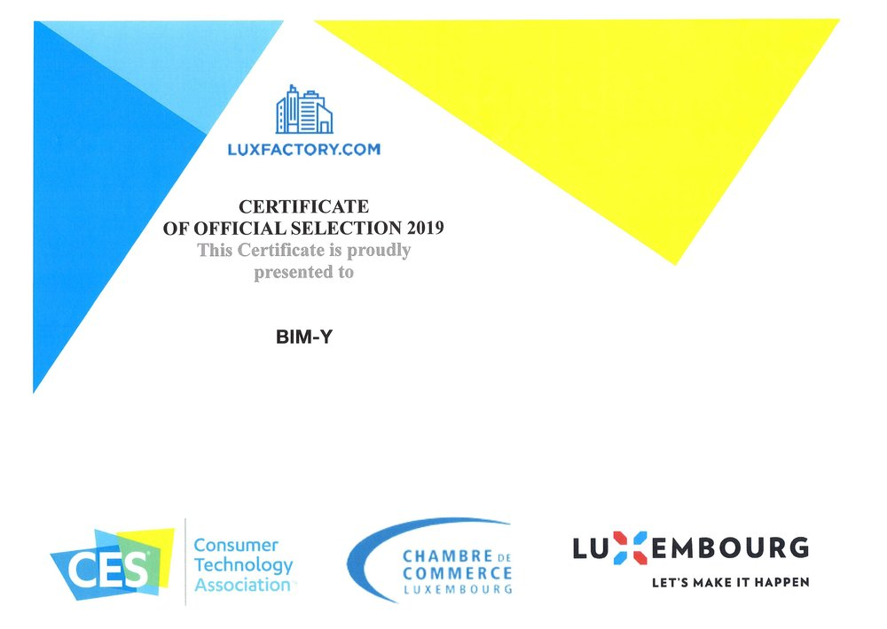 Certificate of official selection at CES of Las Vegas 2019