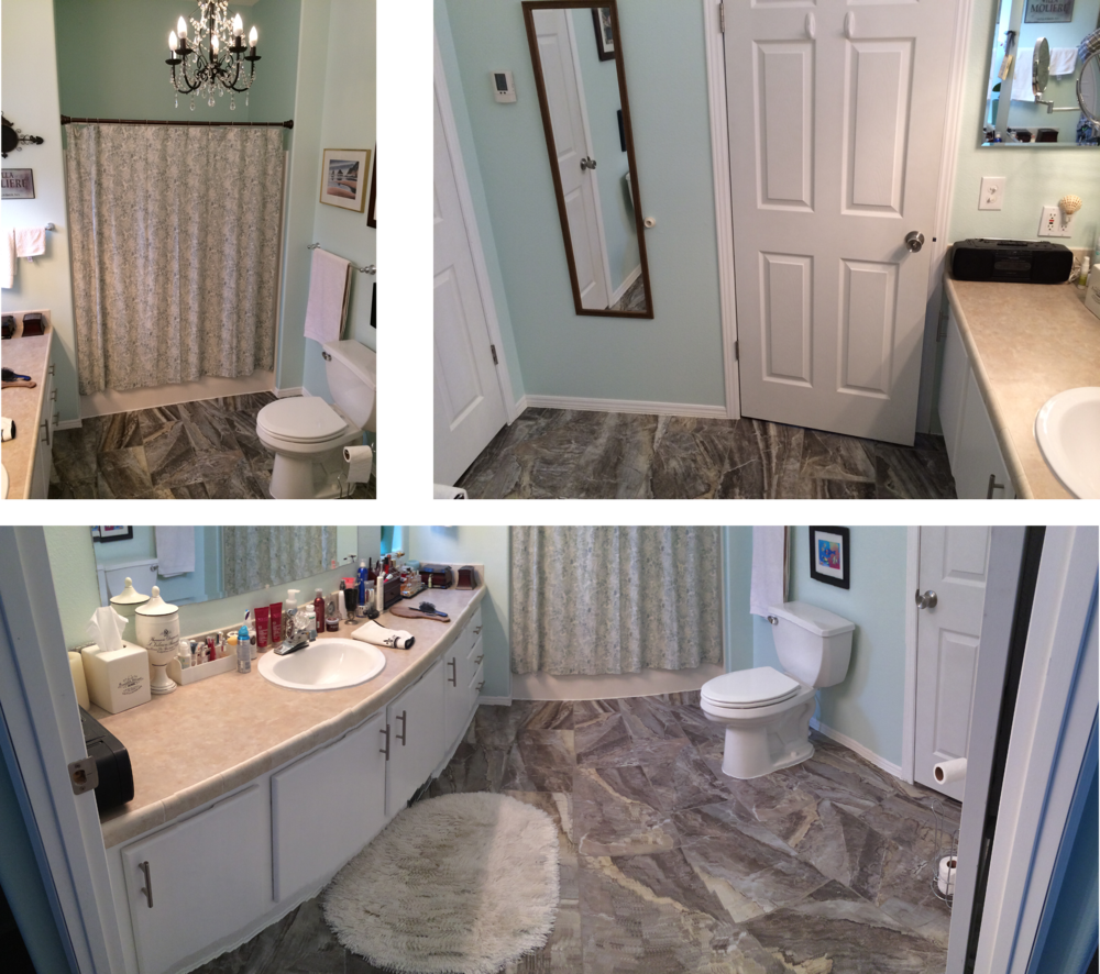 Bathroom Remodel - Flooring, tile, countertops, painting and installations
