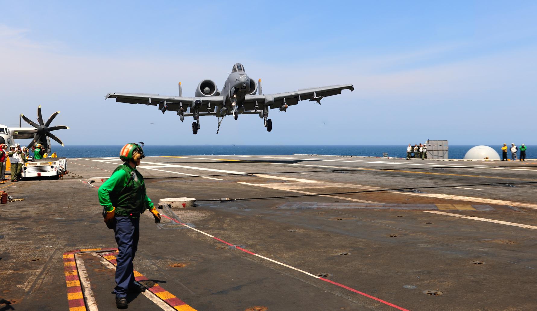 A-10 Warthog Carrier Landing