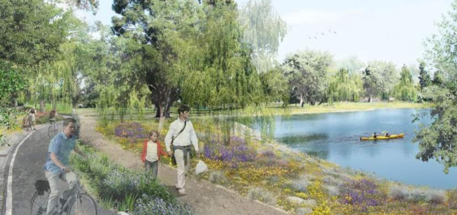 View of proposed park areas (Courtesy Los Angeles County Department of Parks and Recreation)