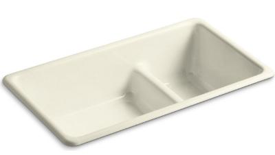 KOHLER Tones Under or Top-Mount Smart Divide Kitchen Sink