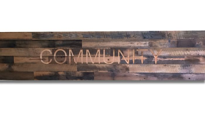 Routed Community Reclaimed Wood Sign.jpg