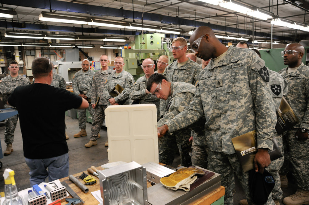 U.S. soldiers tour Edgewood Chemical Biological Center | photo by RDECOM