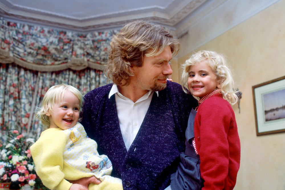 Sir Richard Branson with his kids