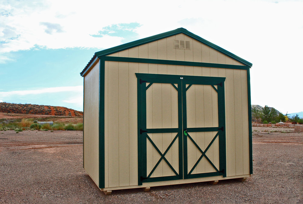 Painted Storage Shed - Vegas Sheds