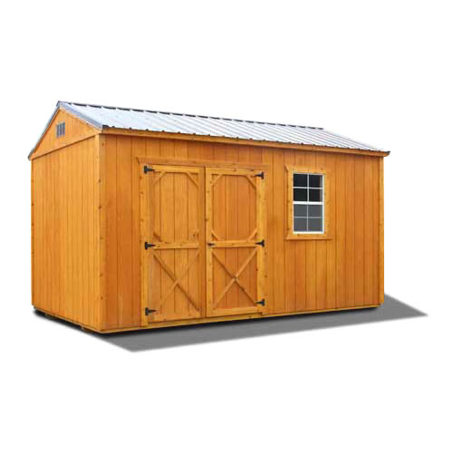 Stained Side Utility Shed - Vegas Sheds