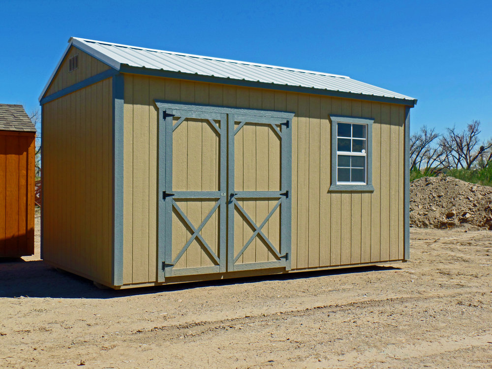 Painted Side Utility Shed - Vegas Sheds