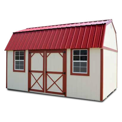 Painted Side Lofted Barn - Vegas Sheds