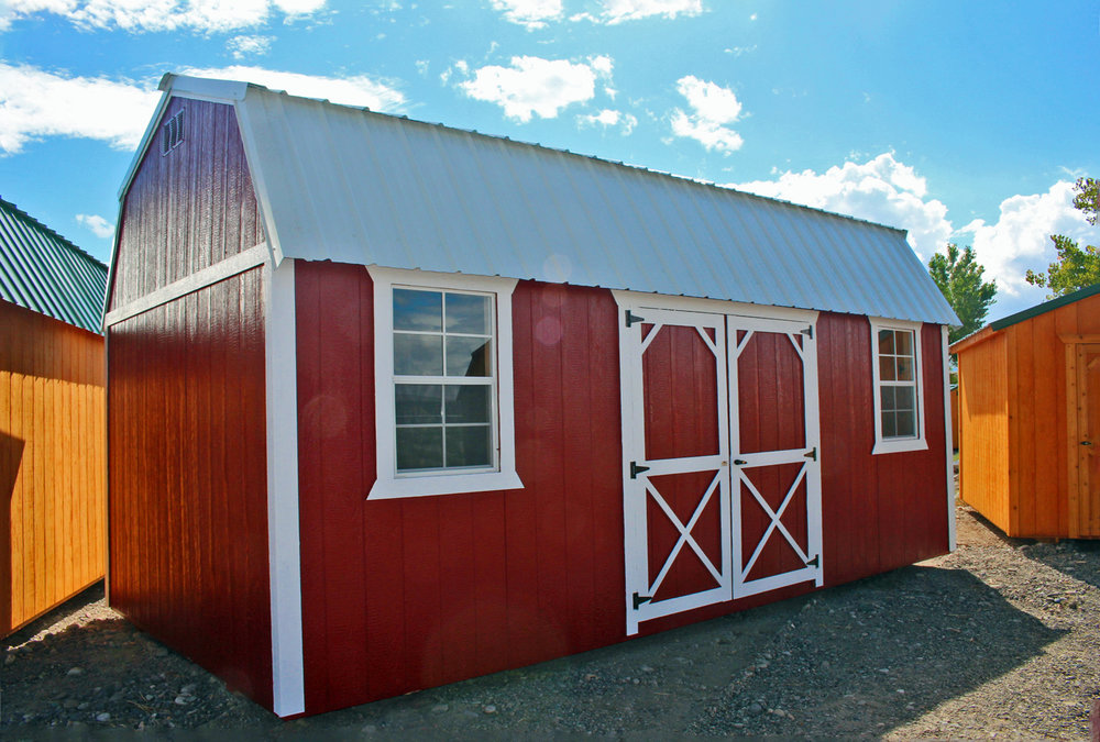 Red Painted Side Lofted Barn - Vegas Sheds