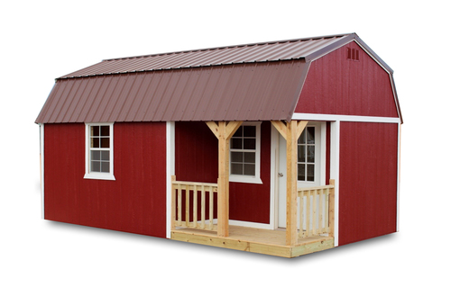 Painted Side Lofted Barn Cabin - Vegas Sheds