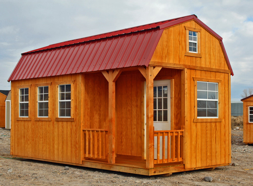 Stained Side Lofted Barn Cabin - Vegas Sheds