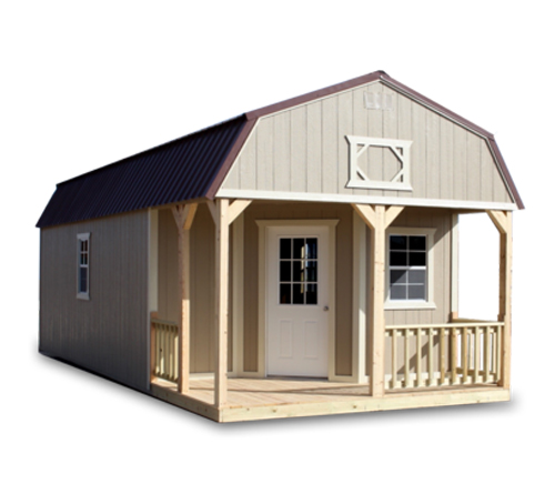 Painted Deluxe Lofted Barn Cabin - Vegas Sheds