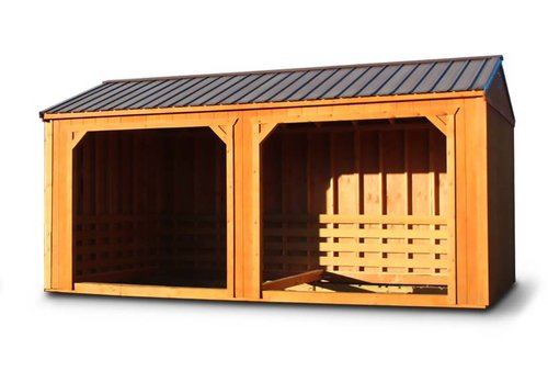 Stained Horse Barn or Loafing Shed - Vegas Sheds