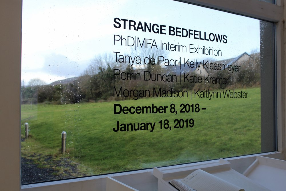Strange Bedfellows Gallery Sign