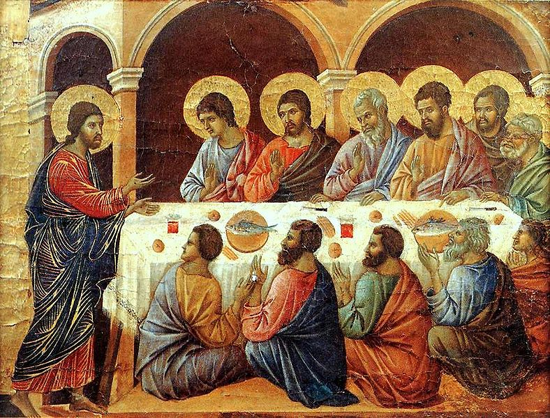 The Last Supper by Maesta Duccio (1308)