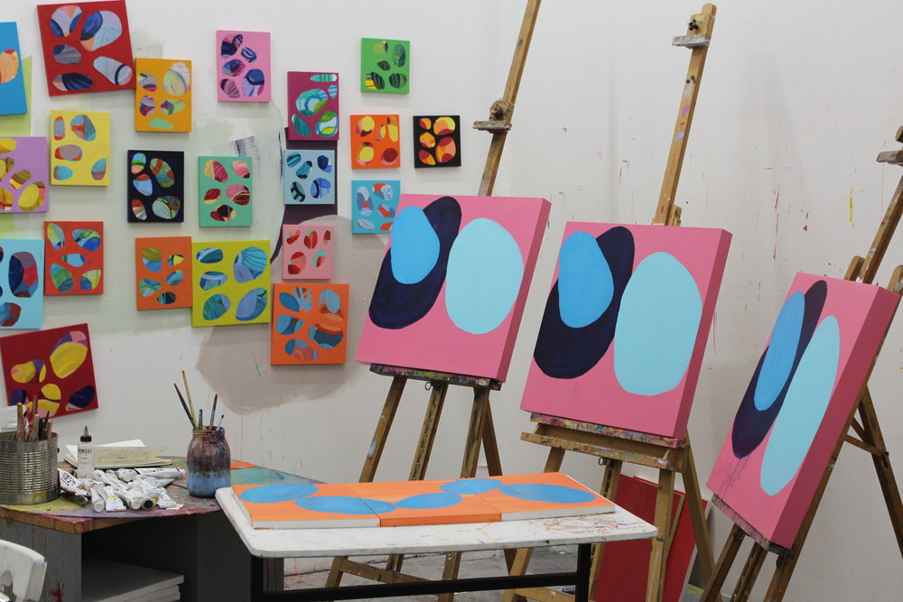 A glimpse into my studio.