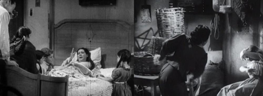 Figura 2. Marcelina, la madre santificada en  Allá en el Rancho Grande ,   y Doña Carmen, la mala madre en  Susana.   Figure 2: Marcelina, the sainted mother in Allá en el Rancho Grande, and Doña Carmen, the bad mother in Susana.
