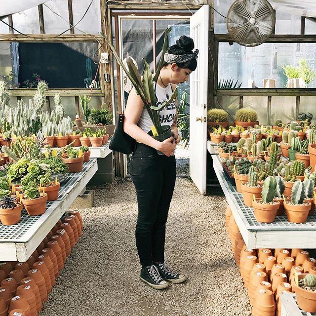 My plant pal Cristin choosing some different plants at Hewitt Garden & Design Center in Franklin, TN.