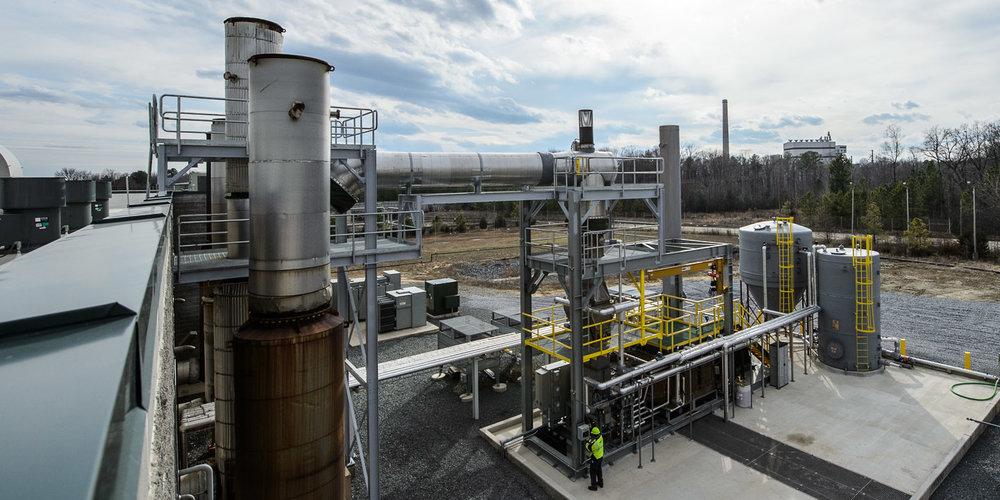 Under $0.04/gallon to treat landfill leachate -