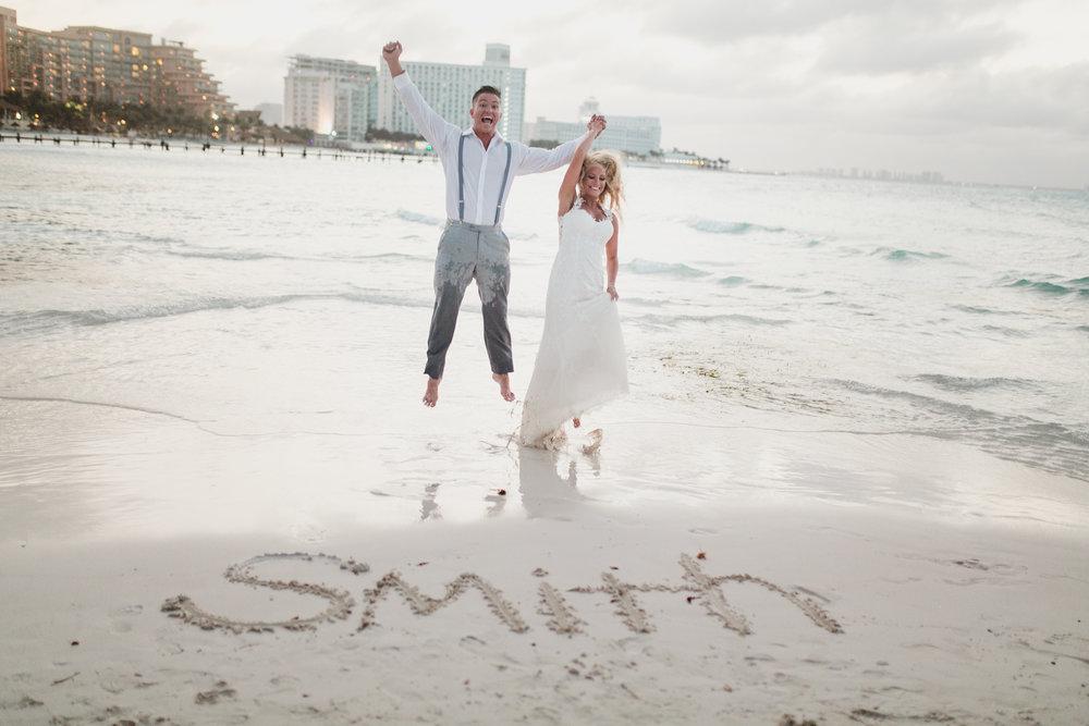 FYI: Jumping in a wet wedding dress is HARD!