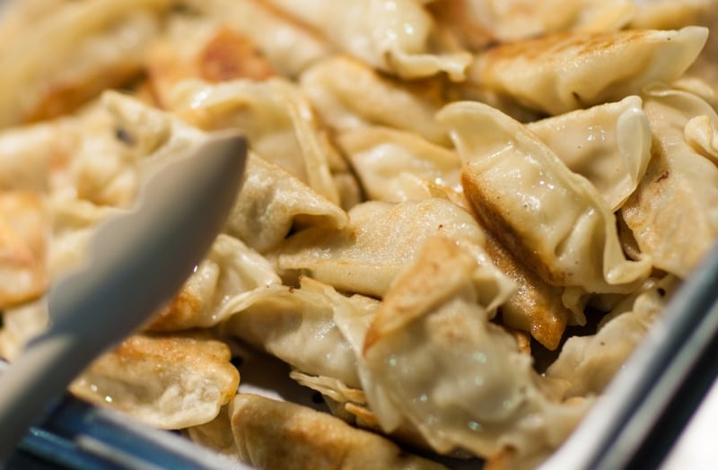 the best chinese dumplings in San Diego at Yummy Buffet
