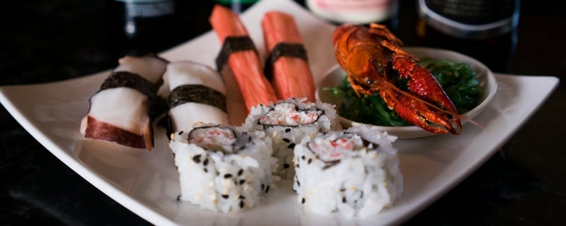 Healthy food options at Yummy Buffet restaurant in San Diego