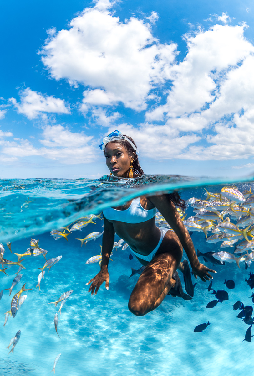 Swimming with fish in the Bahamas with Tanyka Renee (c) André Musgrove 2018.jpg