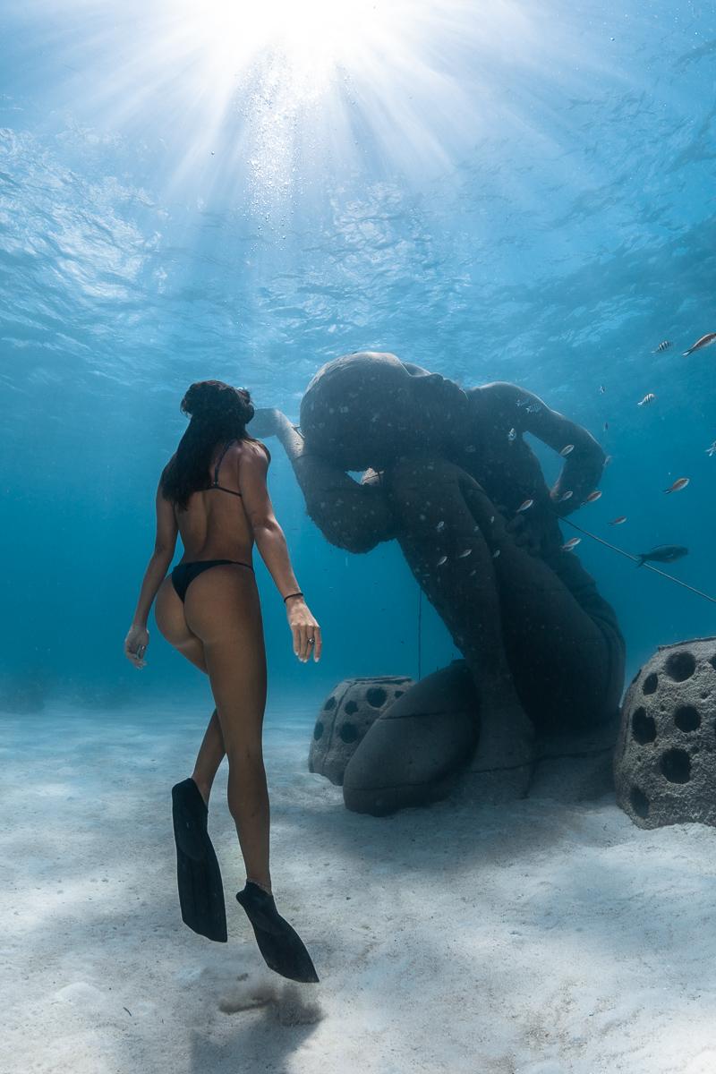 Ocean Atlas Underwater Statue