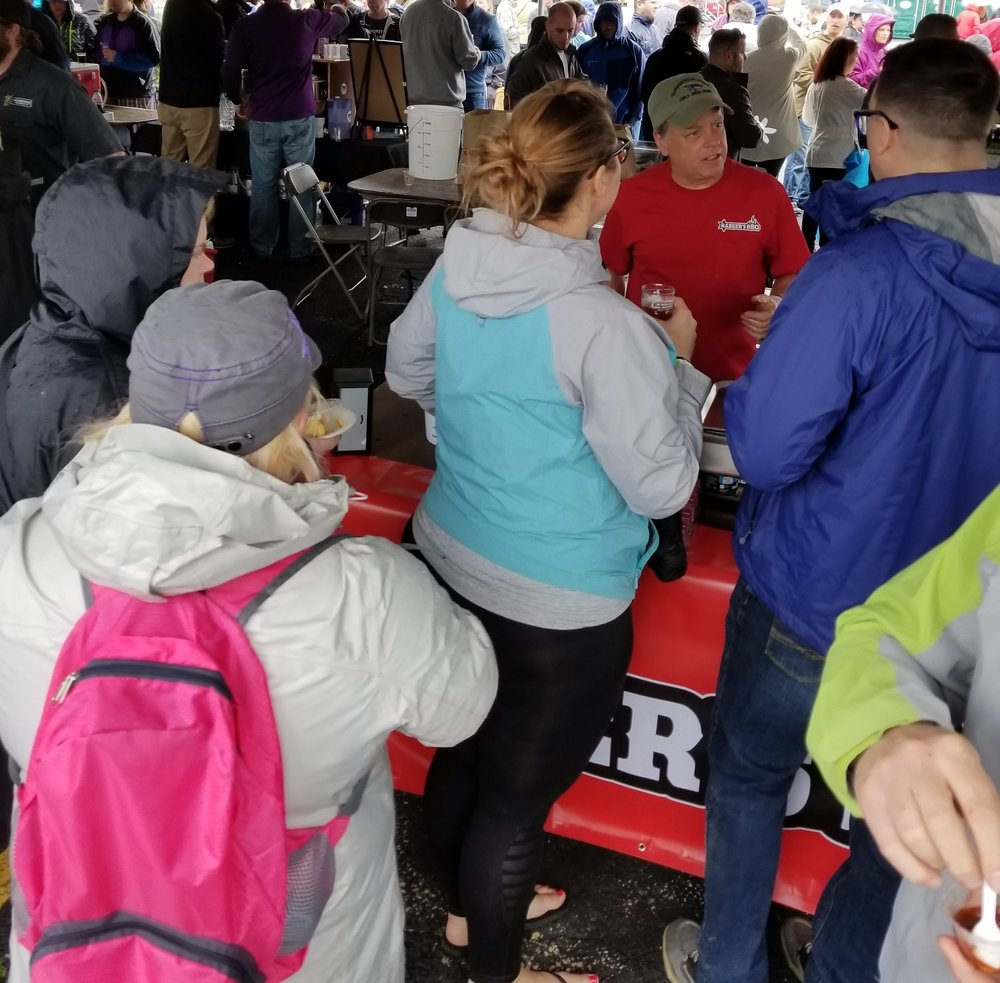 - Wow, what a day and what a crowd at the High Hopes Foundation's event NH Bacon and Beer Festival. People stood in line in the rain for Ranger's BBQ Spicy Smoked Beans with Bacon. It was a hit!There is no better feeling than creating and making a dish that gets such positive feedback.Bean lover or not, you have to try these beans.I love watching people try them.A guy told us