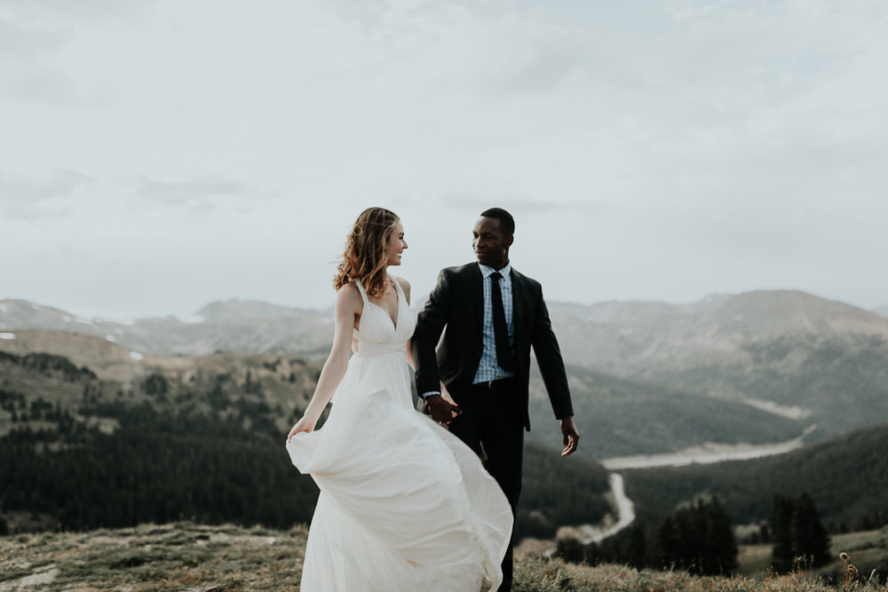 Mountain elopement in the Rocky Mountains