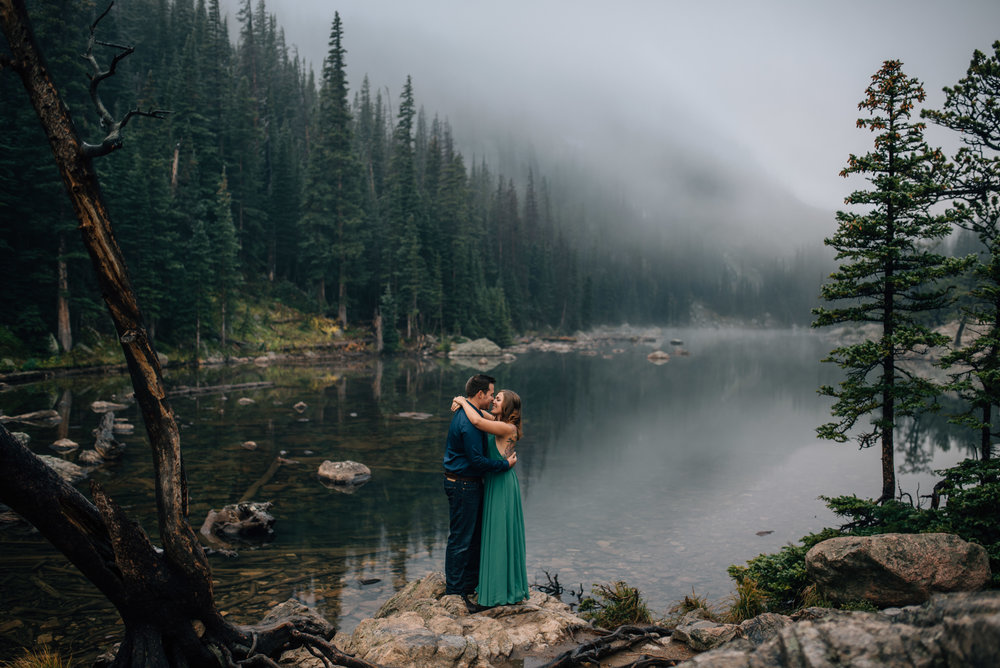 Rocky Mountain National Park, Colorado Dream Lake elopement photographer.