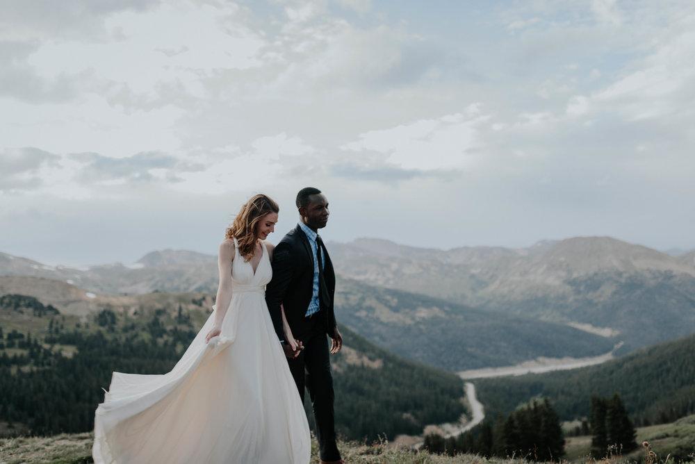 Denver wedding photography. Loveland Pass, Colorado elopement.