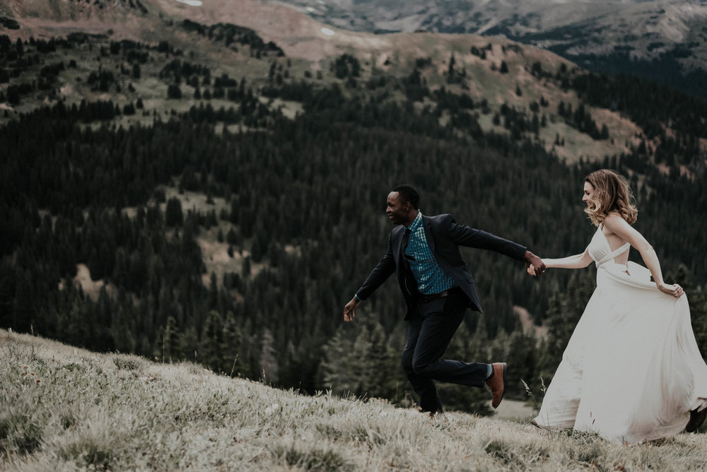 Colorado mountain wedding photography.