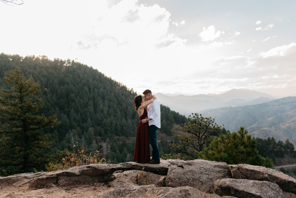Lookout Mountain, Colorado engagement photography.