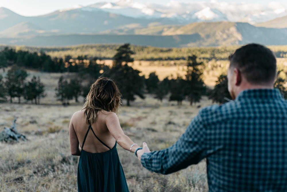 Rocky Mountain National Park sunrise engagement session