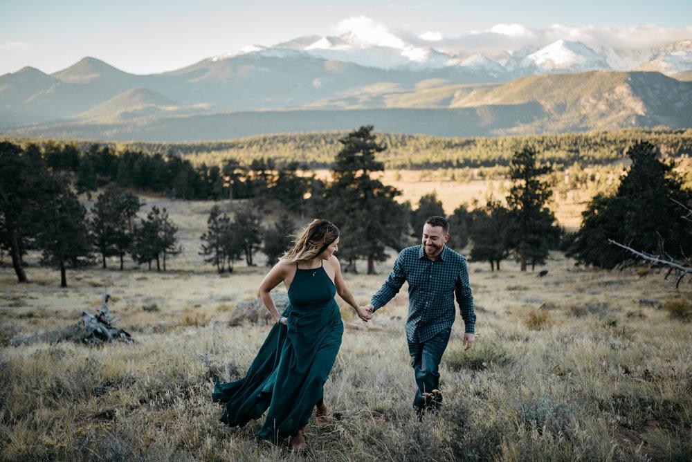 Adventure engagement session photographer based in Denver, Colorado. Destination adventure wedding & elopement photographer.
