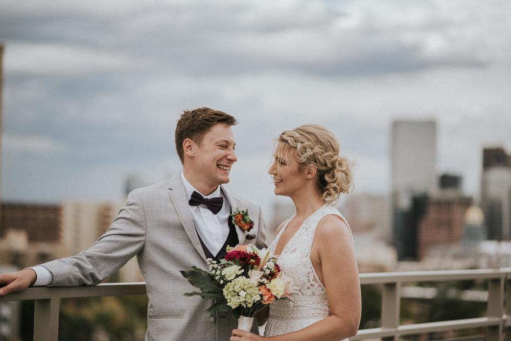 Downtown Denver, Colorado wedding photographer.