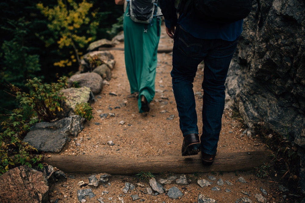 Rocky Mountain National Park adventure engagement session.
