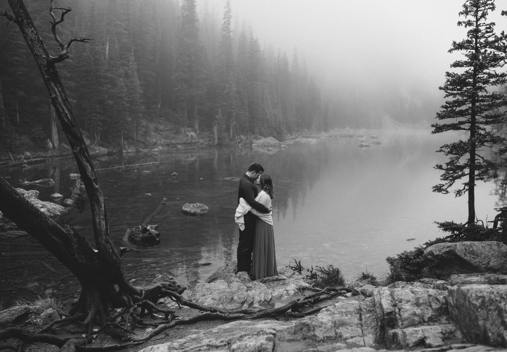 Dream Lake, Rocky Mountain National Park adventure elopement.