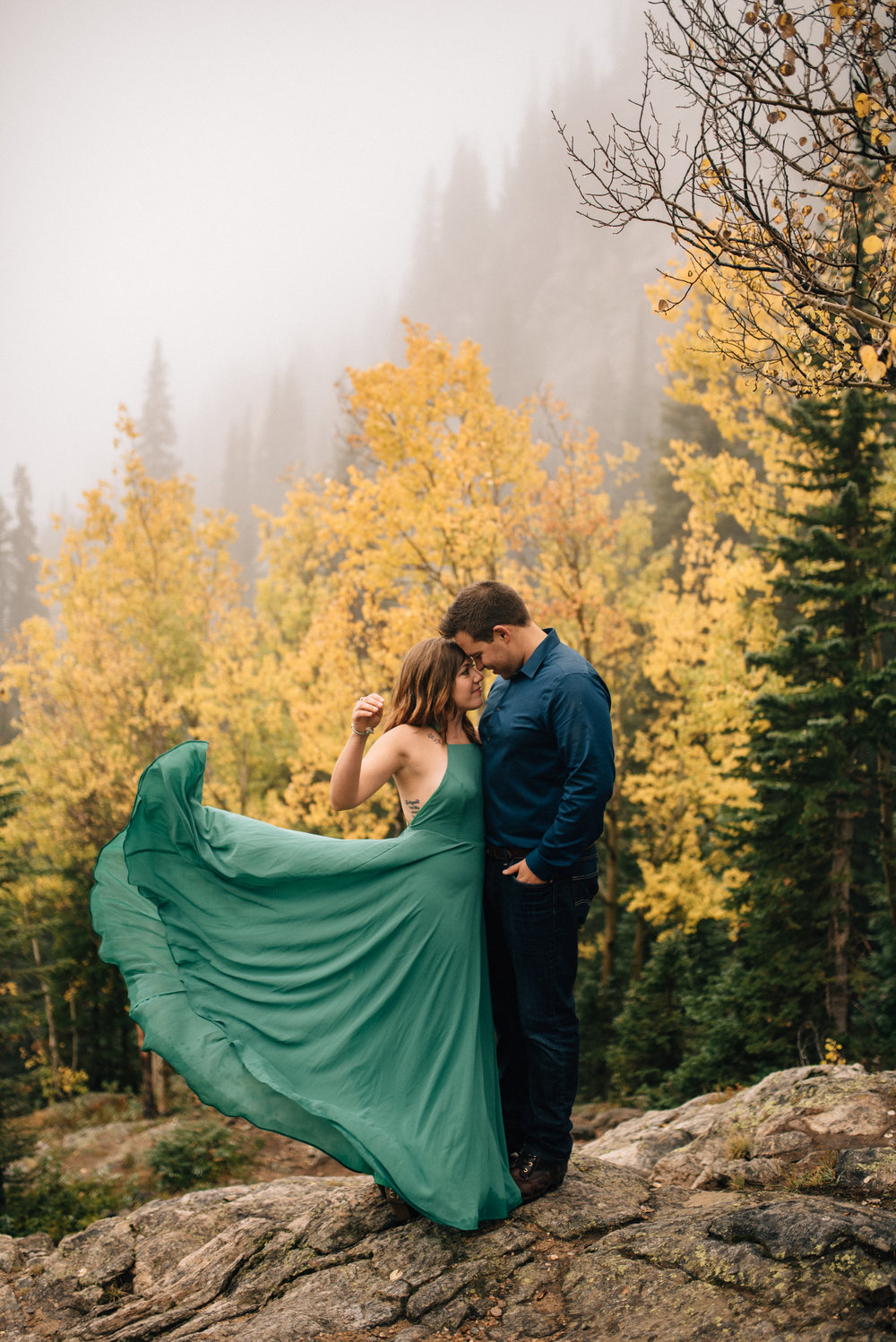 Breckenridge, Colorado engagement session.