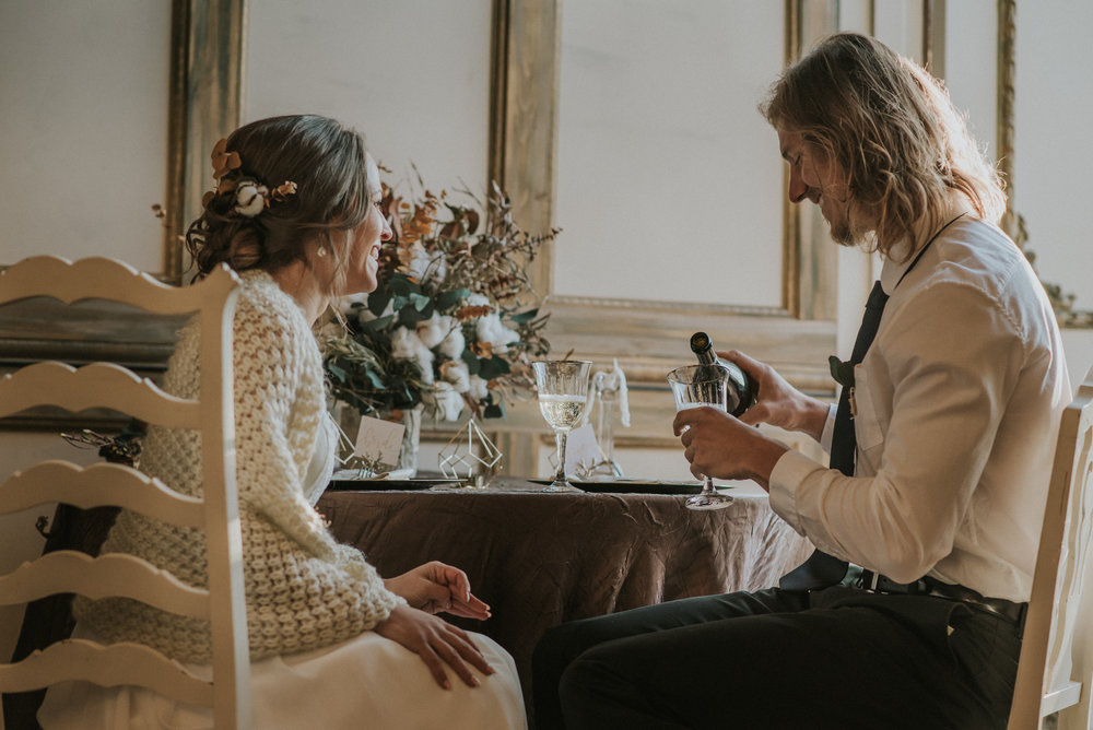 Boho, intimate elopement in Colorado