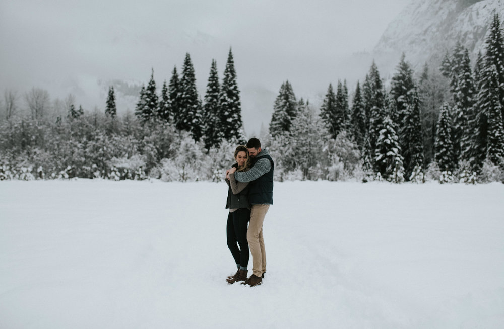 North Cascades National Park adventure engagement session. Destination adventure wedding photographer.
