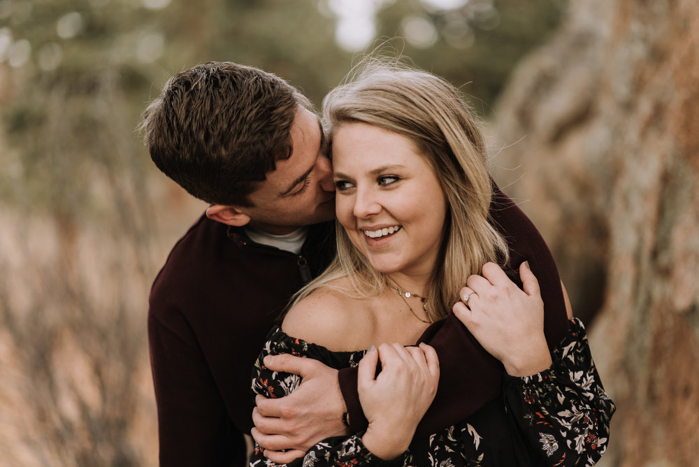 Estes Park sunrise adventure engagement session