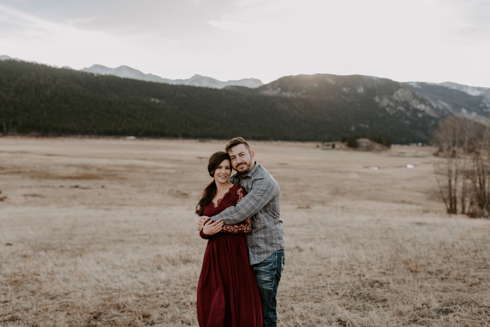 Rocky Mountain National Park in Colorado wedding photographer.