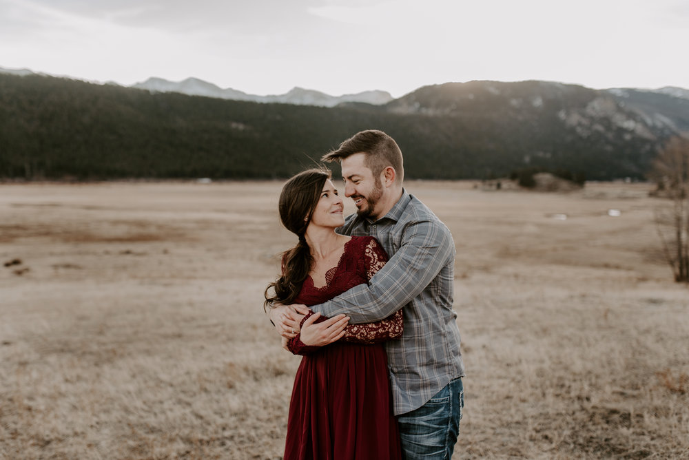 Moraine Park intimate wedding and elopement photography.
