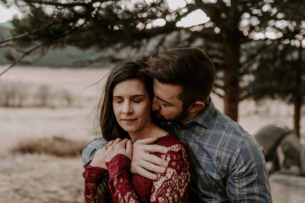 Engagement session at Moraine Park in RMNP Colorado.