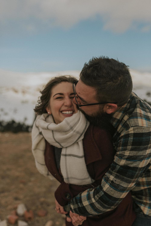 Colorado mountaintop engagement photos